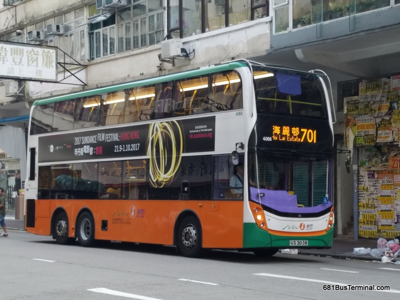 NWFB Bus Route 新巴路線- 701