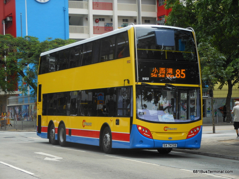 Citybus route 85 for 85 bus timetable
